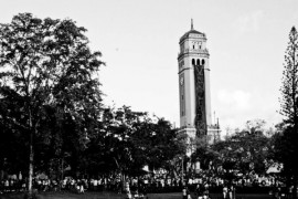 Torre de la UPR Río Piedras. (Ricardo Alcaraz / Diálogo)