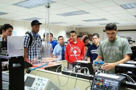 Estudiantes de ingeniería del RUM