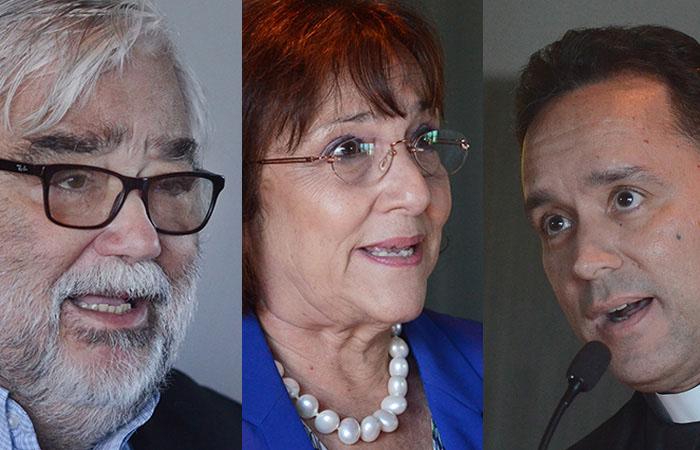 De izquierda a derecha-Miguel Pereira, Carmen Albizu García y Carlos Pérez (Fotos por Ricardo Alcaraz-Diálogo)