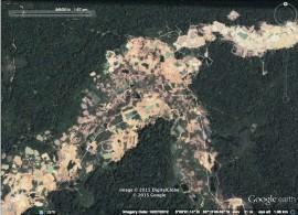 Datos generales del estudio, financiado por la National Science Foundation (NSF), revelan que alrededor de 1,680 kilómetros cuadrados de bosque han sido destruidos en Guyana, Brasil, Colombia y el sur de Perú, por causa de la extracción de oro. (Suministrada)