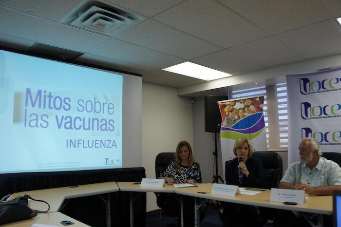 Conferencia de prensa sobre la vacuna de influenza (María de Lourdes Vaello )