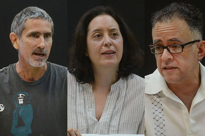 De izquierda a derecha-Juan Otero Garabis, Licia Fiol Matta y Juan Carlos Quintero (Fotos Ricardo Alcaraz_Diálogo)