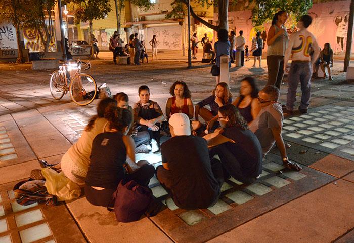 La convocatoria de la actividad fue una iniciativa de estudiantes del curso de geografía y género de la UPR en Río Piedras
