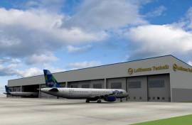 Rendering hangar Lufthansa Technik Puerto Rico