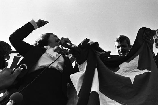 Lolita Lebrón y Rafael Cancel, 1979. (Ricardo Alcaraz / Diálogo)