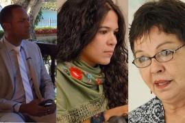 Como parte de la celebración de los 35 años de Radio Universidad de Puerto Rico, entrevistamos a cinco egresados para que nos hablaron de su experiencia en la emisora. De izquierda a derecha, Julio Rivera Saniel, Ana Teresa Toro y Laura Candelas. (Suministrada)