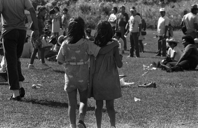 Marcha por la paz, 1988. (Ricardo Alcaraz/Diálogo)