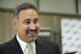 El vicepresidente de Rock Solid Technologies y egresado de la Universidad de Puerto Rico Recinto de Mayagüez, Ángel L. Pérez, conversó sobre el trayecto de casi dos décadas de la compañía de software e informática. (Ingrid Torres)