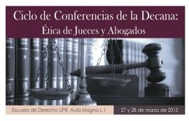 Cartel Conferencia de la Decana Etica 17×22.25