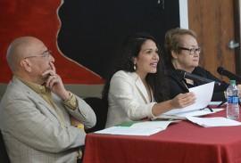 De izquierda a derecha, Mario Alegre Barrios, Ana Teresa Toro, Nilsa Pietri (Ricardo Alcaraz/Diálogo)