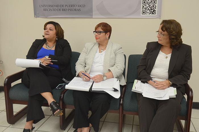 De izquierda a dercha: Jenice Vázquez Pagán, Olga Bernardy Aponte y Marisol Justiniano Aldebol