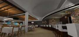 Diseno Interior para Restaurante Modelo 3D