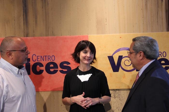 Eduardo Aguiar con Cecille Blondet y Edwin Meléndez