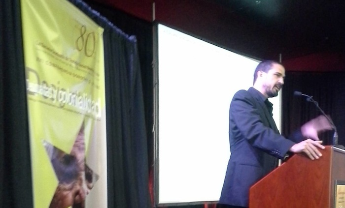 Nelson Maldonado en la conferencia