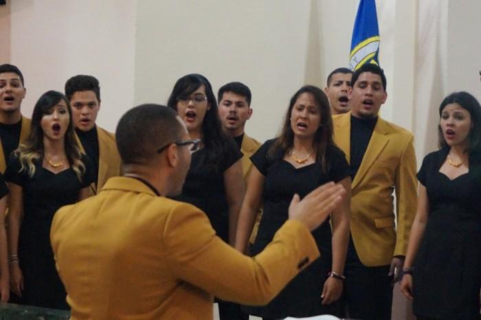 Cuatro coros de diferentes recintos de la Universidad de Puerto Rico, así como la agrupación Florida State University Singers, se unieron para celebrar los 500 años de fundación de la Villa del Capitán Correa. (Suministrada / Michael Hernández Vera)