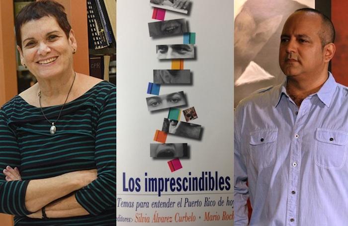Silvia Álvarez Curbelo y Mario Roche editores del libro Los imprescindibles. (Fotomontaje Adriana De Jesús/ Diálogo)