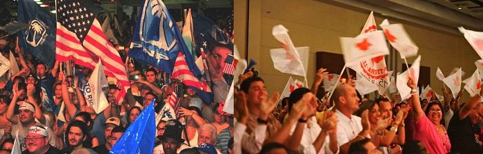 Este texto de opinión analiza cómo el bipartidismo en Puerto Rico afecta a los candidatos independientes y a los partidos minoritarios durante el proceso electoral. (Fotos suministradas / Fotomontaje por Kiara Candelaria Nieves)