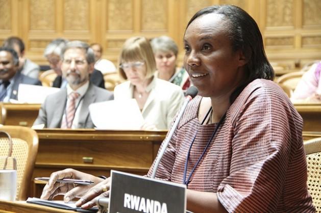 Rose Mukantabana fue presidenta de la Cámara de Diputados de Ruanda. Los países que lograron los mayores avances de paridad de género en sus parlamentos entre 1995 y 2015 son Andorra, Bolivia y Ruanda. Crédito: Tercera Conferencia Mundial de Presidentes de Parlamento
