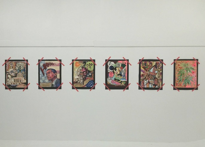 """iezas de la exposición """"Explosiones Nucleares y Ratones Exploradores"""" (Jorge Fusaro / Matadero Art)"""