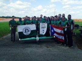 El grupo del RUM fue el único que representó a Puerto Rico en las competencias de la región este de la SAE Aero Design. (Suministrada)