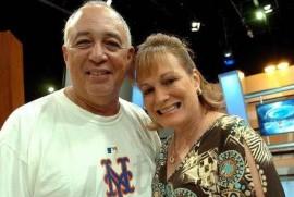 Sunshine Logroño y su esposa Gilda Santini