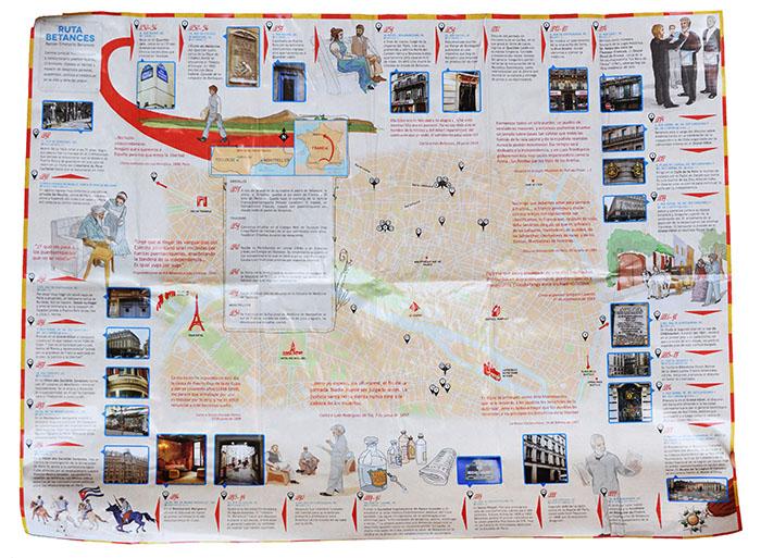 Mapa de la Ruta Betances (Ricardo Alcaraz/ Diálogo)