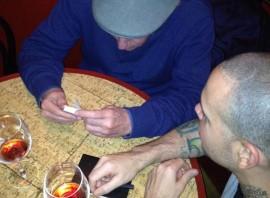 Eduardo Galeano en su encuentro con René Pérez. (Facebook)