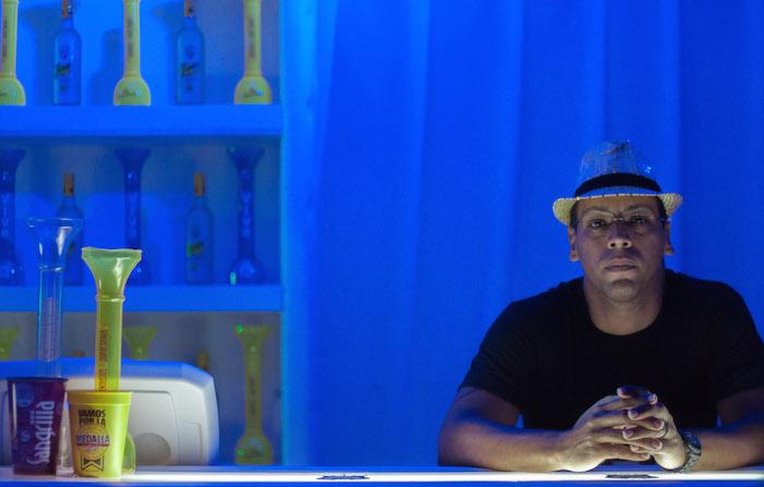 Barra de un quiosco de DonQ y Gasolina en las Justas 2015, Ponce. (Ivana Alonso / Diálogo)
