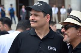 Presidente de la UPR en la manifestación