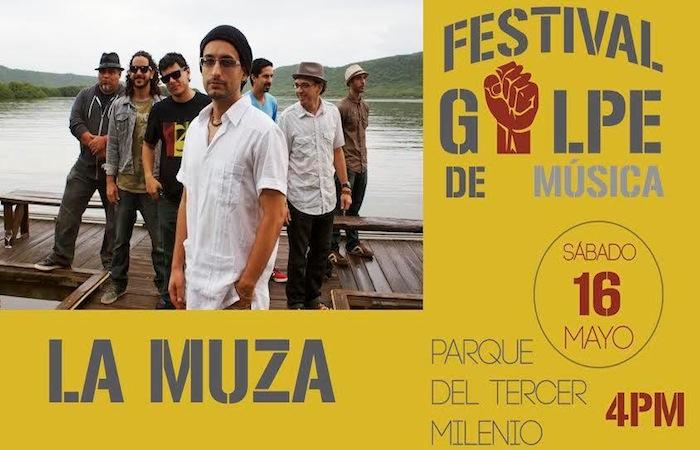 Festival de música en el golpe