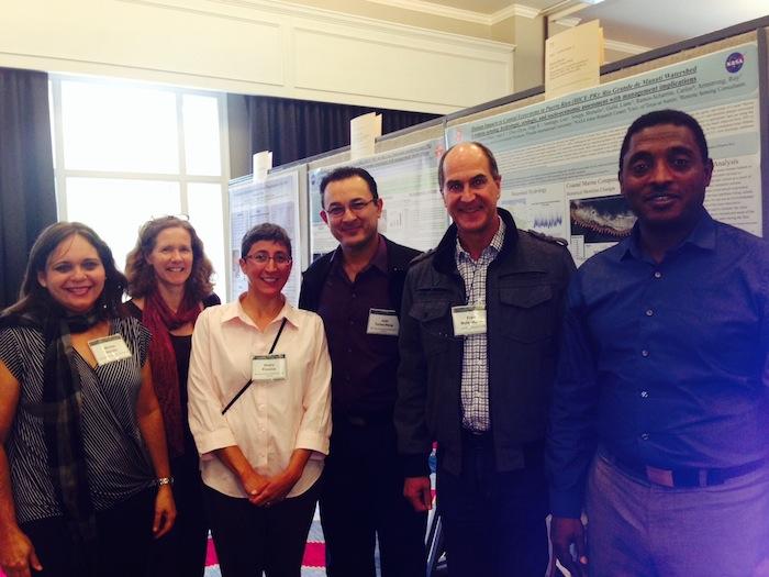Grupo de geólogos de la UPRRP destacado en la NASA, encabezados por la profesora Maritza Barreto