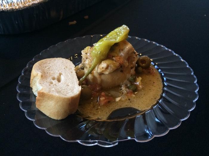 Pescado a la veracruzana confeccionado por la cocinera del cónsul mexicano en Puerto Rico.