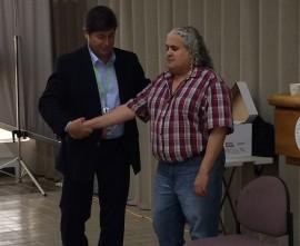 Ismael Figueroa y José Lasalde en uno de los ejercicios.