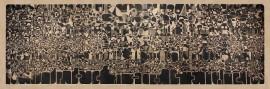 """Sin Título (Mural) 1974 Aguafuerte sobre papel 85 ½ """" x 255 ½ """" Colección Instituto de Cultura Puertorriqueñ"""