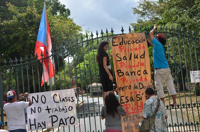 Protesta UPR-RP