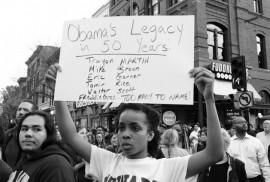 Marcha en Washington, el 29 de abril, en solidaridad con las protestas de Baltimore por la muerte de Freddy Gray a manos de la policía. Crédito: Stephen Melkisethian
