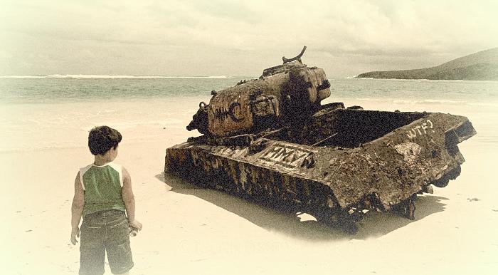 Los residuos de las prácticas militares de la Marina siguen en Culebra. Todavía hay bombas en las playas  y eso a los padres de los menores les preocupa. (Suministrada)