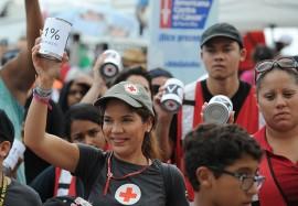 Organizaciones sin fines de lucro se manifestaron frente al capitolio. (Ricardo Alcaraz/ Diálogo)
