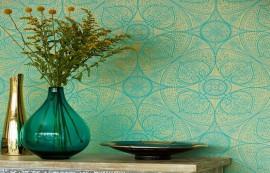 Papel decorativo de la colección Yasmin de la empresa Claro Lencería del Hogar. (Suministrada)