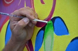 Más allá del estilo y la técnica utilizada, en cada mural hay un mensaje cultural intrínseco que invita a reflexionar sobre la esencia del puertorriqueño, sus sufrimientos y alegrías, lo cotidiano y lo que lo define. (David Pérez / Diálogo)