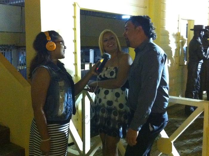 Edna Garcia, Jessica Morales y Tito Rodriguez