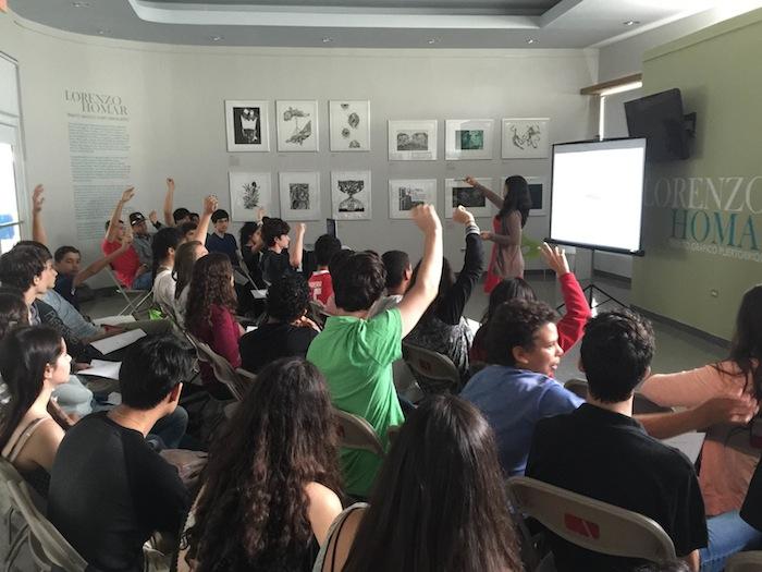 Estudiantes de escuela superior en taller de verano de la Escuela de Arquitectura de la UPR-RP.