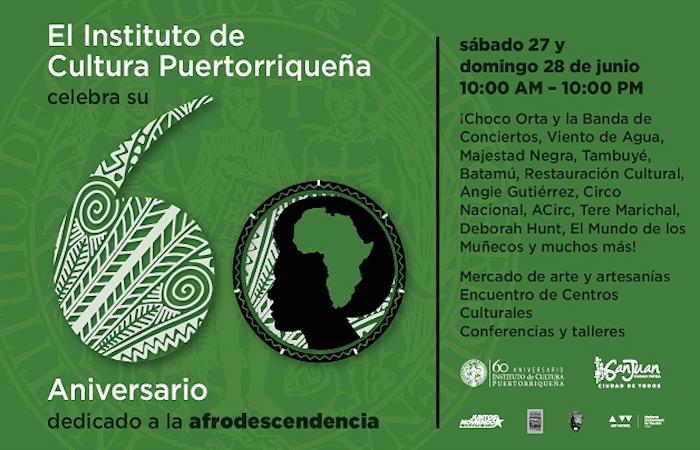 Además, en reconocimiento al Decenio Internacional para los Afrodescendientes, se hará énfasis en la representación de la negritud en la cultura puertorriqueña. (Suministrada)