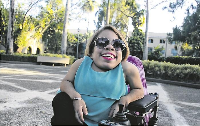 Katherine en su Alma Máter, la UPRRP. (Suministrada por Cidra Somos Todos/Eunice Castro)