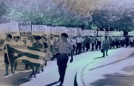 Septiembre del 1965- Marcha realizada en contra del ROTC y del servicio militar obligatorio. (Archivo el Mundo)