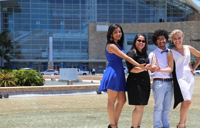 Los cuatro estudiantes que componen el grupo creativo pertenecen al Departamento de Diseño de la institución. (Suministrada)