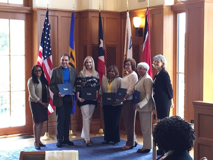 En la foto, los miembros de la delegación puertorriqueña, de izquierda a derecha, Marcella Nuñez, José Capriles, Nilvia Fernández, Myrna Quiñoines, Madeline Reyes, Cruz María Nazario y Elizabeth Bradley. (Suministrada)