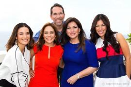 De izquierda a derecha, Denise Quiñones, Grenda Rivera, Elwood Cruz, Ada Monzón y Saritza Alvarado, quienes conforman la nueva propuesta de Lente Viral. (Suministrada)