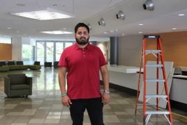 Jean Carlos Rosario Mercado, presidente de la Junta de Directores de la Cooperativa IUPICoop Café. (Michelle Estades)