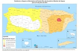 Mapa de municipios en sequía. (Suministrada)
